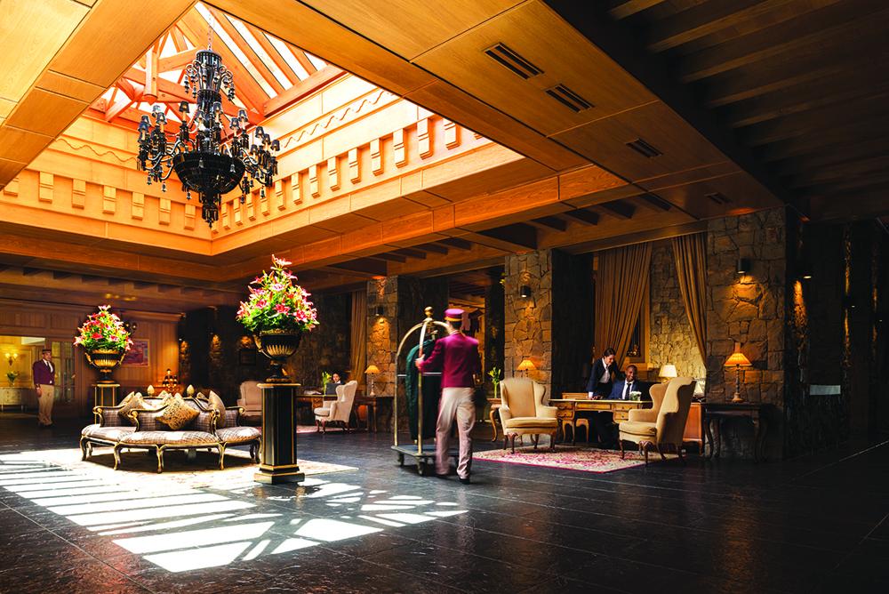 Reception Michlifen Hotel, Ifrane, Morocco.
